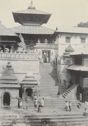 Steps leading to central temple, Pashpatti